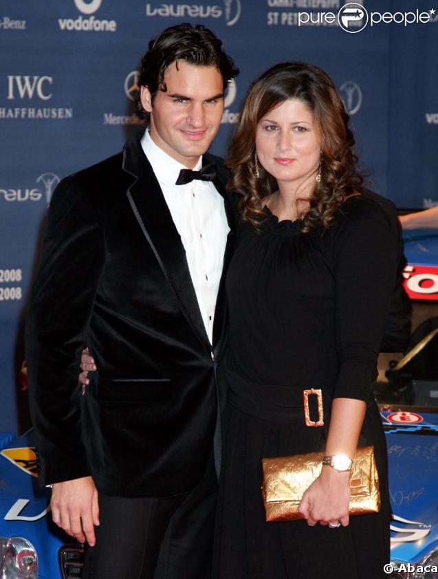 Roger Federer et sa femme Mirka Vavrinec