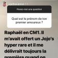 Agathe Auproux se confie sur son premier amour sur Instagram, le 11 juillet 2018.