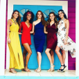 Eva Colas, Safiatou Guinot, Maëva Coucke, Cassandra Jullia et Lison di Martino à Saint-Martin (Saint-Barthélémy) le 11 juillet 2018.