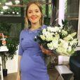Maya Lauqué (La Quotidienne) enceinte de son deuxième enfant - Instagram, juillet 2018