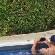 Caroline Wozniacki et son fiancé David Lee en vacances à Portofino en Italie, le 14 juillet 2018.