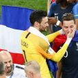 Hugo Lloris et Florian Thauvin - Finale de la Coupe du Monde de Football 2018 en Russie à Moscou, opposant la France à la Croatie (4-2). Le 15 juillet 2018
