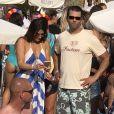 Donald Trump Jr. et sa nouvelle compagne Kimberly Guilfoyle au Nikki Beach à Saint-Tropez, le 15 juillet 2018.