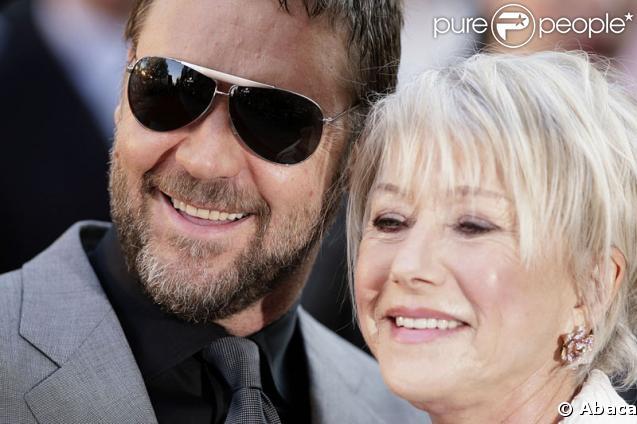 Russell Crowe et Hellen Mirren, un duo de choc et de charme lors de la première du film Jeux de pouvoir à Londres le 21 avril 2009