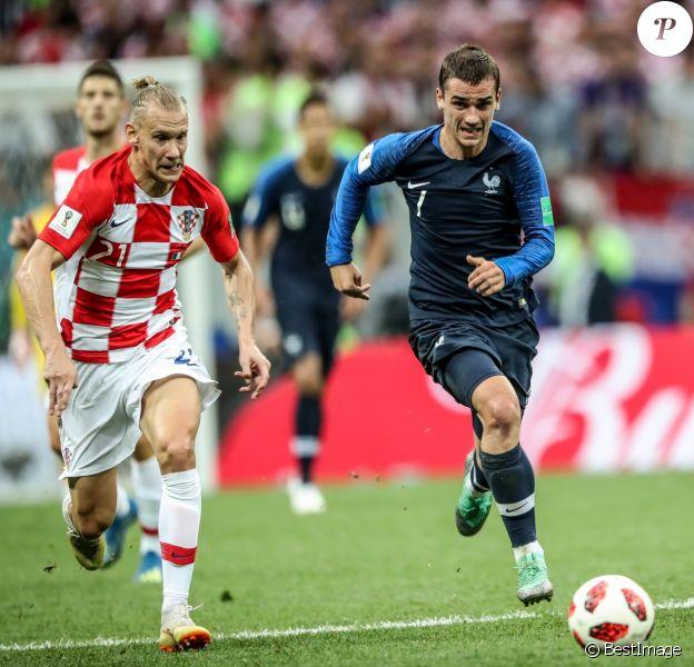 Antoine Griezmann - Finale de la Coupe du Monde de Football 2018 en Russie à Moscou, opposant la France à la Croatie (4-2). Le 15 juillet 2018 © Moreau-Perusseau / Bestimage