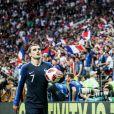 """Antoine Griezmann lors de la finale de la Coupe du Monde """"France - Croatie (4-2)"""" au stade Loujniki à Moscou (FIFA World Cup Russia2018) le 15 juillet 2018. © Cyril Moreau/Bestimage"""