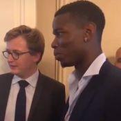 """Paul Pogba : Champion survolté, il fait """"daber"""" Emmanuel Macron à l'Élysée"""