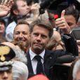 Le prince Emmanuel-Philibert de Savoie assiste à la procession du buste et du sang de San Gennaro à Naples en Italie le 6 mai 2018.