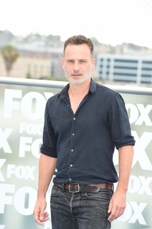 Andrew Lincoln lors du photocall pour la présentation de la neuvième saison de The Walking Dead, qui sera sa dernière, au Comic-Con de San Diego le 20 juillet 2018.