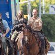 Exclusif - Image du tournage de la saison 9 de The Walking Dead à Atlanta en mai 2018.