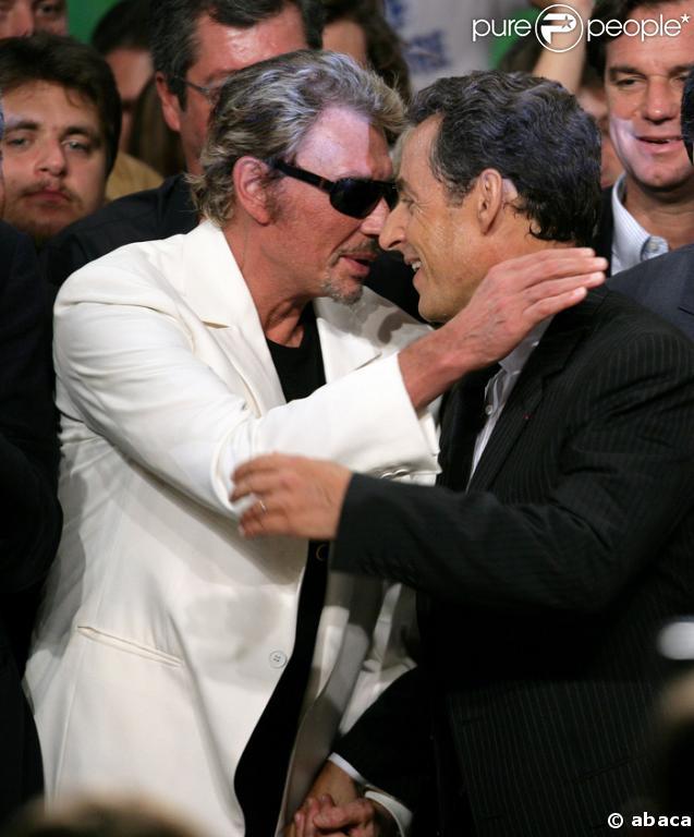 Johnny Hallyday et son ami Nicolas Sarkozy