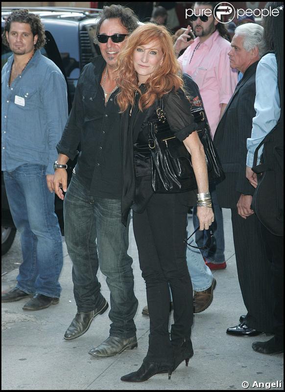 Bruce Springsten et sa femme Patti Scialfa