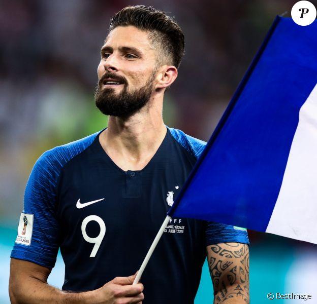 Olivier Giroud - Finale de la Coupe du Monde de Football 2018 en Russie à Moscou, opposant la France à la Croatie (4-2). Le 15 juillet 2018.