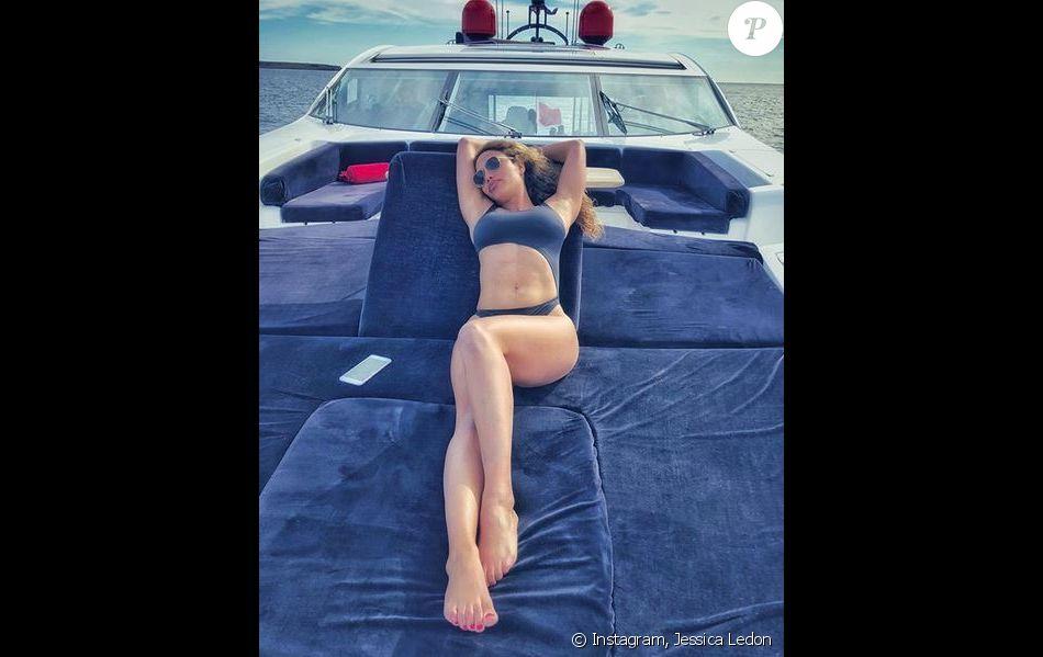 Jessica Ledon à Ibiza. Juillet 2018.