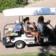 Exclusif - Cristiano Ronaldo et son fils Cristiano Ronaldo Jr en vacances à Costa Navarino en Grèce le 13 juillet 2018.