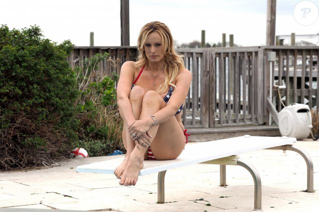 Exclusif - Stormy Daniels à Long Beach. New York le 11 mai 2018.