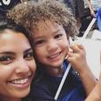 Chloé Mortaud et son fils Matis, le 15 juillet 2018 à Las Vegas.
