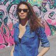 Chloé Mortaud pose dans les rues de Las Vegas, Instagram, le 3 mai 2017.