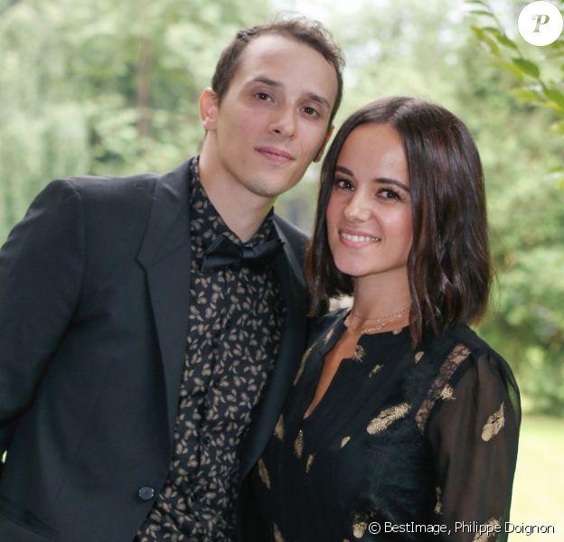 Exclusif  - Alizée et son mari Grégoire Lyonnet - Mariage de Katrina Patchett et Valentin D'Hoore à la mairie de Linselles dans les Hauts-de-France le 1er septembre 2017. © Philippe Doignon/Bestimage.