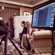 Gigi Hadid et Alexander Wang - Coulisses de la réalisation du Calendrier Pirelli 2019 avec le photographe Albert Watson. Avril 2018.