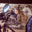 Gigi Hadid - Coulisses de la réalisation du Calendrier Pirelli 2019 avec le photographe Albert Watson. Avril 2018.