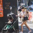 Nicky Hilton promène sa fille Lily Grace dans les rues de New York, le 19 juillet 2018.