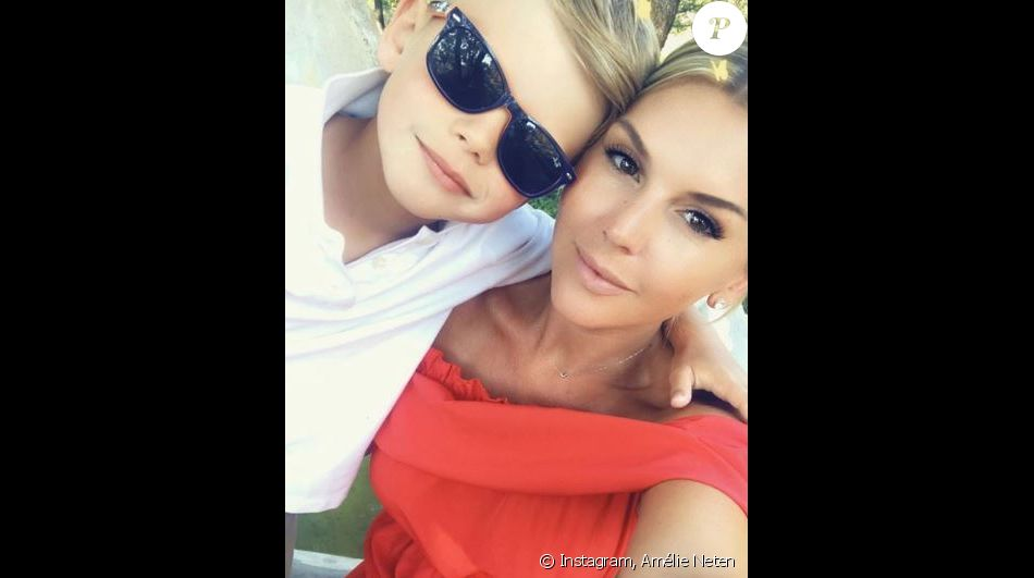 Amélie Neten et son fils Hugo - Instagram, 9 juillet 2018