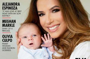 Eva Longoria, rayonnante pour sa 1re couverture avec son fils Santiago