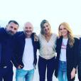 "Miko, Pascal (""Koh-Lanta All Stars), Cauet, Camille Cerf (Miss France 2015), Maëva Coucke (Miss France 2018), Maxime Guény lors du tournage de ""Fort Boyard"", 30 mai 2018, Instagram"