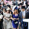 La princesse Eugenie d'York,Sarah Ferguson et le prince Andrew, duc d'York, au Royal Ascot 2015 le 19 juin 2015.