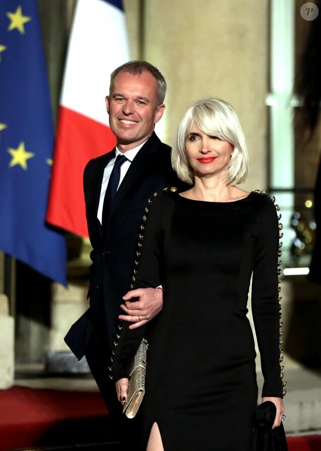 François de Rugy, président de l'Assemblée nationale et sa femme Séverine Servat, journaliste à Gala le 19 mars 2018. © Jacovides-Moreau/Bestimage