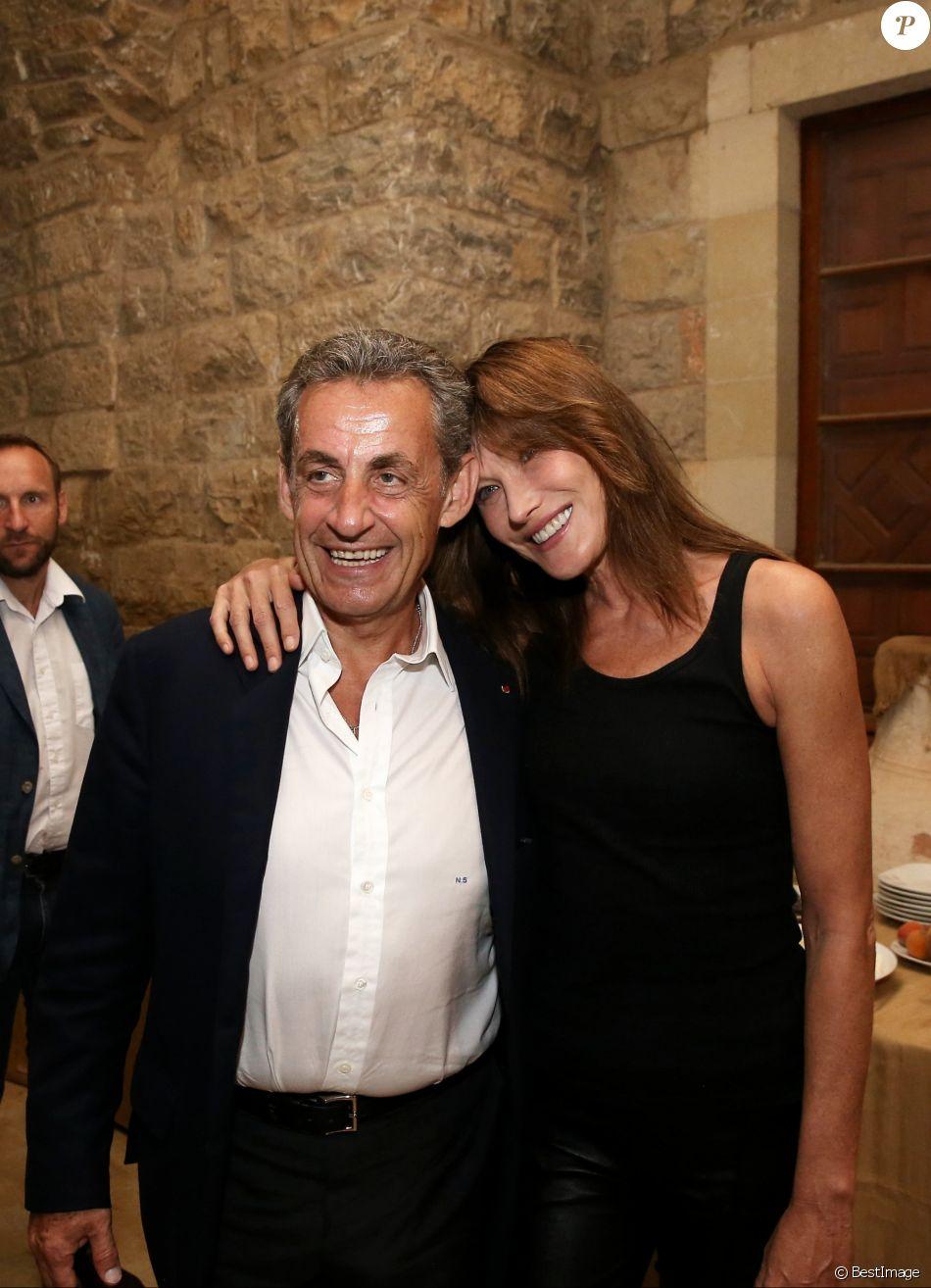 Carla Bruni-Sarkozy et son mari Nicolas Sarkozy - Coulisses du concert de Carla Bruni-Sarkozy au Beiteddine Art Festival à Beyrouth au Liban le 30 juillet 2018. ©DominiqueJacovides/Bestimage