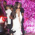"""Winnie Harlow - Arrivées et sorties des célébrités venues au restaurant """"Craig's"""" puis au club """"Delilah"""" pour célébrer les 21 ans de Kylie Jenner à Los Angeles, le 9 août 2018."""