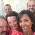 """Karine Le Marchand en compagnie des agriculteurs de """"L'amour est dans le pré"""" saison 13 - Instagram, 10 juillet 2018"""