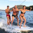Zinédine, Véronique et Enzo Zidane en vacances en Espagne. Juillet 2018.