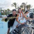 Exclusif - Delphine Wespiser et Natty Rico - Beach Party du Radisson Blu de Djerba, le 5 août 2018. © Philippe Doignon/Bestimage