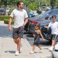 Scott Disick est allé prendre le petit-déjeuner avec ses enfants Mason, Penelope et Reign au Marmalade Cafe à Calabasas, le 11 août 2018