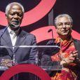 Kofi Annan et Hina Jilani participent au forum Global Citizen Live 2018 à Londres le 17 avril 2018.