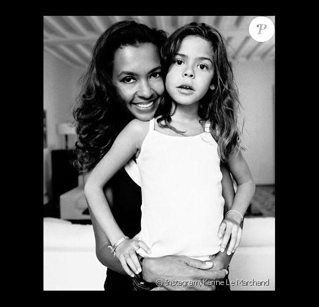 Archive de Karine Le Marchand et sa fille Alya âgée de 10 ans sur la photo - Instagram, 27 mai 2018