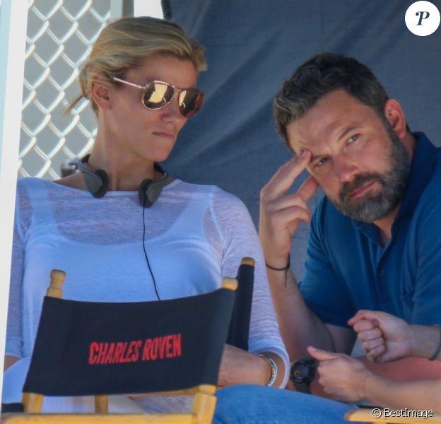 Ben Affleck, Lindsay Shookus - Exclusif - Les acteurs sur le tournage du film 'Triple Frontier' à Ewa à Hawaii, le 28 mars 2018