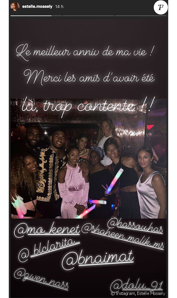 Estelle Mossely a publié des photos sur son compte Instagram le soir de son anniversaire célébré le 19 août 2018 à Saint-Tropez.