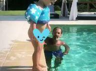 Ingrid Chauvin : Son fils Tom craquant casse-cou à la piscine