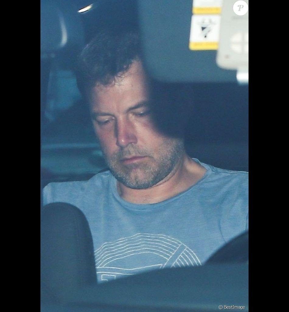 Jennifer Garner et Ben Affleck en voiture sur la route du centre de désintoxication Canyon Treatment Center à Los Angeles le 22 août 2018