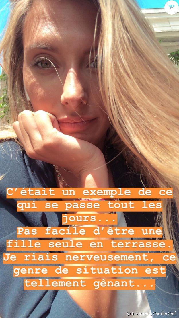 Camille Cerf draguée lourdement à la terrasse d'un café à Paris - Instagram, 23 août 2018
