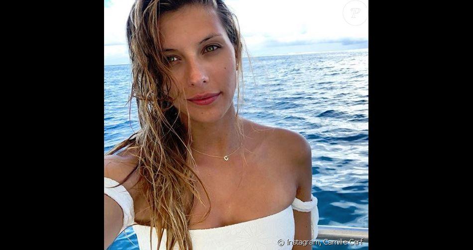 Camille Cerf en voyage en Polynésie française - Instagram, 25 avril 2018