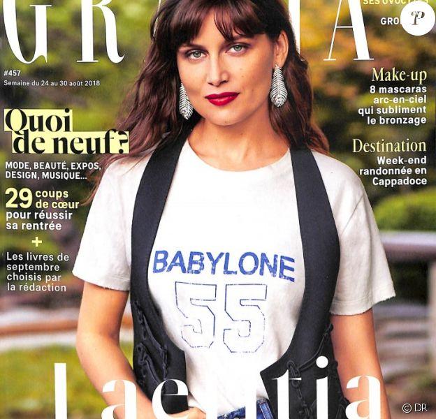"""Couverture du magazine """"Grazia"""" en kiosque le 24 août 2018."""