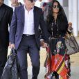 Salma Hayek et son mari François-Henri Pinault arrivent à Venise à l'occasion de la 75ème édition du Festival du Film International de Venise, la Mostra, le 31 aout 2018.