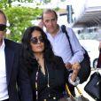 Salma Hayek et son mari François-Henri Pinault arrivent à Venise pour le 75ème festival du film, la Mostra le 31 août 2018.