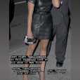 Pauline Ducruet vue par son styliste Sam Woolf au défilé Tom Ford à New York le 5 septembre 2018, image extraite de sa story Instagram, septembre 2018.