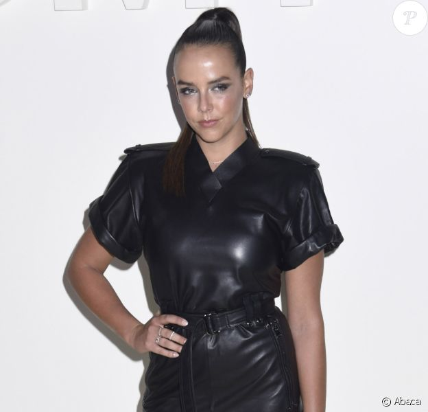 Pauline Ducruet pose lors du photocall du défilé Tom Ford à la Fashion Week de New York le 5 septembre 2018.
